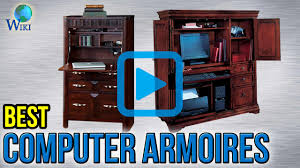 Armoire Computer Desk by Top 6 Computer Armoires Of 2017 Video Review