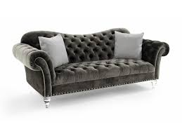 Traditional Tufted Sofa by Rachlin Classics Vanna Vanna Traditional Sofa With Deep Tufted