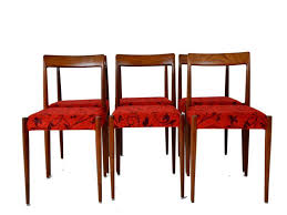 Red Dining Chair Vintage Red Dining Chairs Set Of 6 For Sale At Pamono