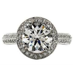 brilliant diamond rings images Excellent cut brilliant diamond ring engagement 2 carat micro pave jpg
