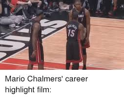 Mario Chalmers Meme - mmi mario chalmers career highlight film funny meme on me me