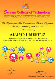 Invitation Cards For Alumni Meet Alumni Meet 2017 Selvam College Of Technology