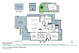 The Panorama Floor Plan by 1 8 Jackson Street Balgowlah 2093 Nsw Stone Real Estate