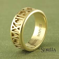numeral ring made personalized numeral ring in 14k gold by sorella