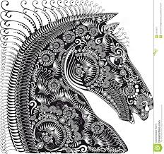 decoration animal ornament horses stock vector image 51075697