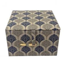 Jewelry Box Favors Cotton Jewelry Box With Modern Oriental Pattern Design Luxury