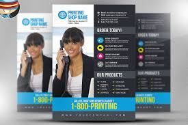 printing services flyer template v3 flyer templates creative