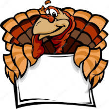 happy thanksgiving turkey holding sign vector il