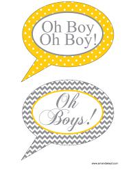 Baby Boy Photo Props Baby Printable Photo Booth Props U2014 Amanda Keyt Designs