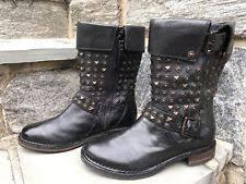 s ugg black leather ugg australia buckle block heel leather boots for ebay