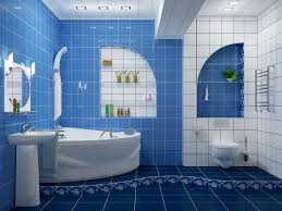 nice modern blue and white bathroom tiles ideas and nice decor