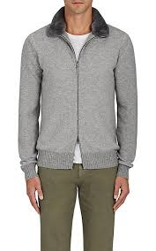 fur sweater loro piana fur trimmed zip front sweater barneys york