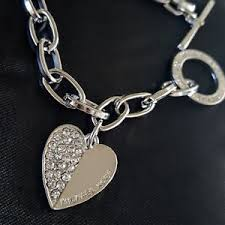 s jewelry michael kors logo silver toggle chain link charm bracelet women s