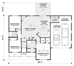 Houseplans Com by Ranch Style House Plan 3 Beds 2 00 Baths 1457 Sq Ft Plan 56 620