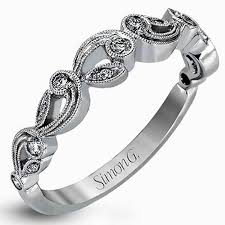 filigree wedding band simon g white gold vintage style filigree wedding ring