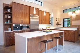 washington park modern kitchen showing custom walnut cabinets
