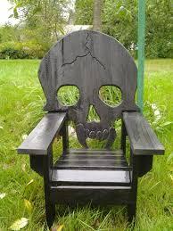 Wooden Skull Chair Skull Chair By Emmanddoubleyas Taming Ten Acres Pinterest