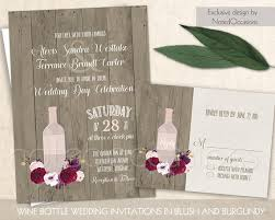 vineyard wedding invitations vineyard wedding invitation rustic wine bottle wedding suite