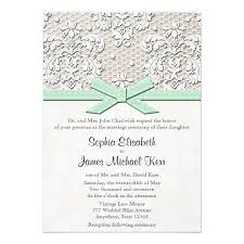 vintage lace wedding invitations monogrammed mint vintage lace wedding invitations zazzle