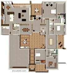 homely design modern house plans with courtyards in the middle 15