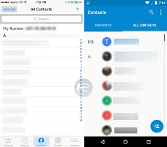 contacts app android apple ios 8 1 vs android 5 0 lollipop visual comparison