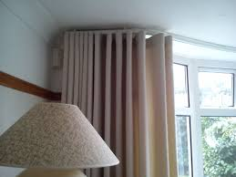 Curved Curtain Rods For Bow Windows So Neat So Tidy Silent Gliss Metropole Ceiling Fitted To Bay With