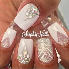 best 25 clear glitter nails ideas on pinterest silver tip nails