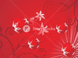 floral background with decorated balls royalty free stock