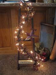 Country Primitive Home Decor Fantastic Ways To Repurposed Ladder Repurpose Primitive