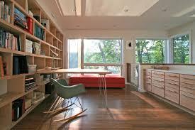 villa cozy floor to ceiling wooden bookshelves idea with wooden