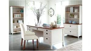 lovable home offices southport executive desk distressed white