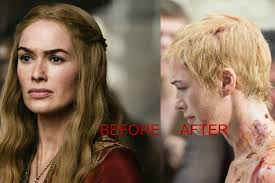 punishment haircuts for females lena headey haircut punishment in game of thrones