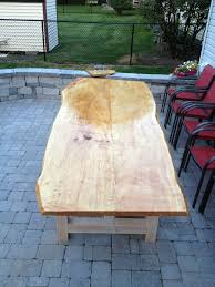 live edge outdoor table live edge maple slab outdoor table