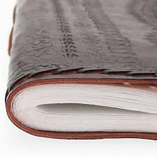 Handmade Leather Photo Albums Handmade Indra Xl Embossed Stitch Leather Photo Album By Paper