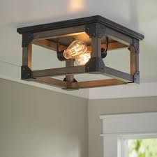 Farmhouse Ceiling Light Fixtures Cheyanne 2 Light Farmhouse Ceiling Flush Mount Farmhouse Touches