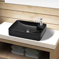 above counter bathroom sink black ceramic rectangular above counter bathroom wash sink vanity