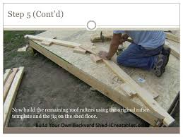 4 how to build shed roof rafters