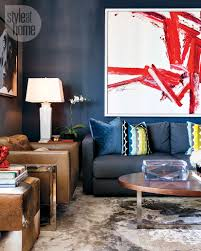 Modern Pop Art Style Apartment by Small Space Moody Masculine Apartment Style At Home