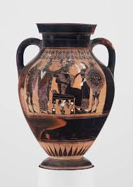 Aphrodite Vase Two Handled Jar Amphora Depicting The Birth Of Athena Museum
