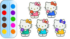 coloring pages for kids hello kitty u0026 drawing for children how