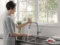 touch faucets for kitchen faucet 9197t ar dst sd in arctic stainless by delta