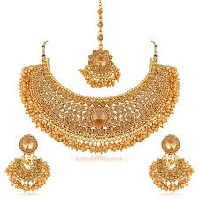 pearls gold necklace sets images Apara bridal pearl lct stones gold necklace set jewellery for jpg