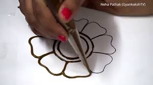 basic mehendi design 1 by neha pathak gyankakshtv youtube