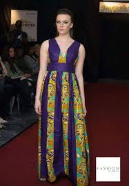 ankara african print maxi dress