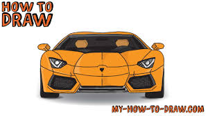 car lamborghini drawing how to draw a car how to draw a lamborghini aventador sports car