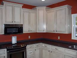 Painted Kitchen Cupboard Ideas by Best White Glazed Kitchen Cabinets Ideas U2014 All Home Design Ideas
