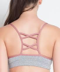 light pink sports bra the free yoga light gray pink crisscross sports bra zulily