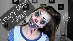 creepy halloween clown makeup youtube