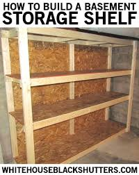 Build A Simple Wood Shelf Unit by Best 25 Diy Storage Shelves Ideas On Pinterest Garage Shelving