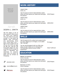 Free Resumes Templates To Download Free Resume Template Download For Word Resume Cover Letter And